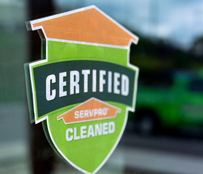 Certified: SERVPRO Cleaned Window Cling